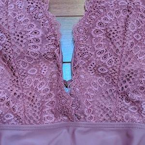 Xhilaration Swim - Xhilaration One Piece Lace Bathing Swim Suit